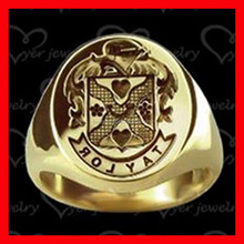 2015 wholesale male solid gold personalized signet ring