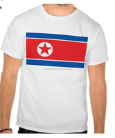 2015 wholesale fashion plus size 100% cotton with North Korea flag T-shirt