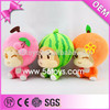Import plush toys china cute kawaii fruit doll