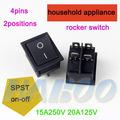 15a250vac t85 eléctrica rocker switch 4 pins 2 posiciones spst on-off mini barco de automatización interruptor del panel