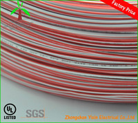 red and white single core ul1007 18AWG PVC insulation coated electric wire
