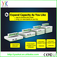 Hot!!!Whole selling popular patent design many output ports battery bank 60000mAh