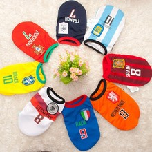 Wholesales polyester fiber dog sport football clothes ,pet accessories,pet clothes for dog