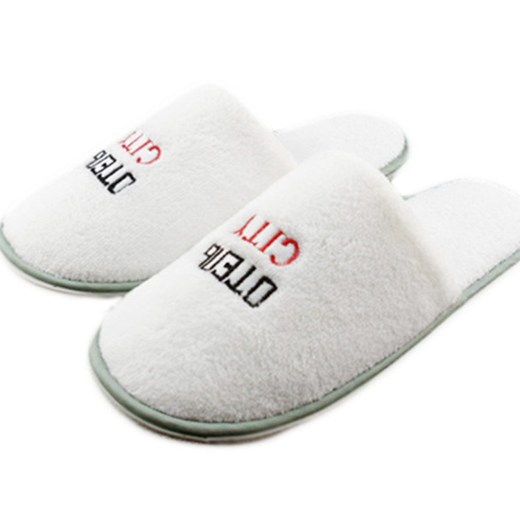 Freahap Open-toe Slippers Unisex Hotel Home Velvet Spa