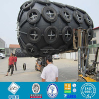 Ship pneumatic rubber fender with tyre and chain