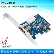DIEWU factory supply 3 port IEEE 1394a PCI-E firewire video capture card