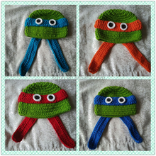 Hand crochet knitted baby ninja Minions owl animal hats