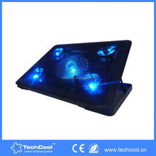 2015 new products wholesale laptop cooling pad adjustable fast cooling laptop cooling pad with five fans