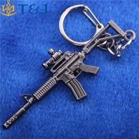 >>>men jewelry pendants Online games Cross Fire alloy model gun keychains wholesale cool CF weapon metal key chains/