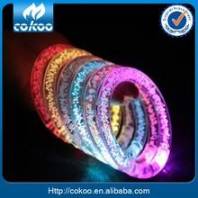 Wholesale Hot Sale Customize Promotion Cheap led bracelet Bar Festival Celebration Acrylic Rainbow Color Flashing Led Bracelets