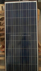 CE/TUV Certificate Poly 140W solar panel ,hot sell in India,Mideast,Pakistan,Africa