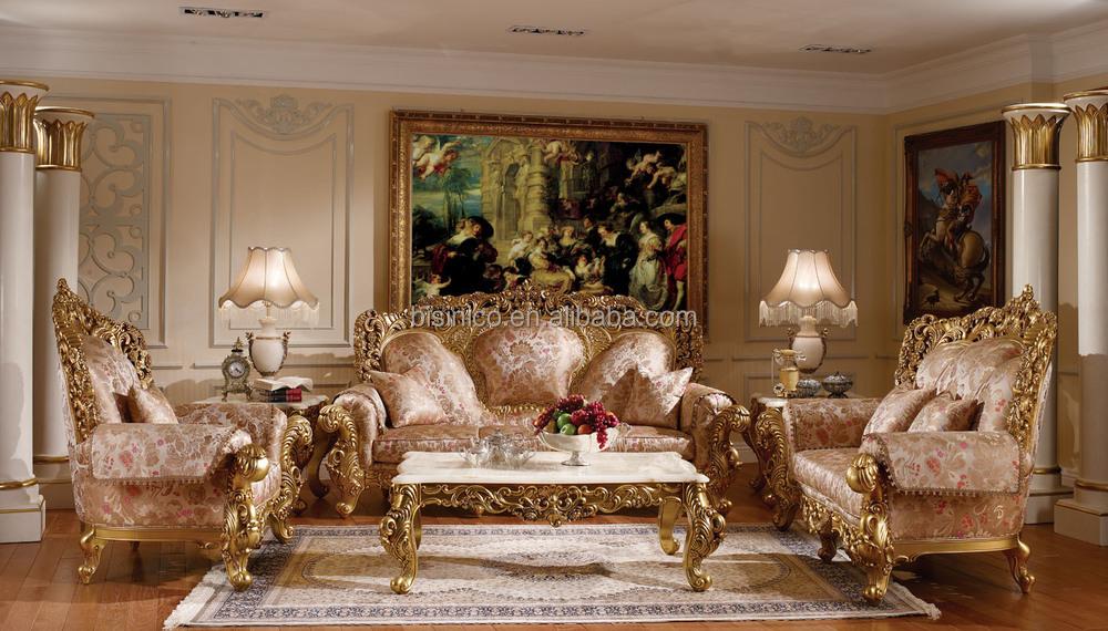 귀족 궁전 디자인 단단한 나무 조각 소파 세트, 체스터 필드 소파 ...