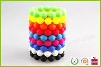 100% Food Grade Cheap bead charm silicone bracelet