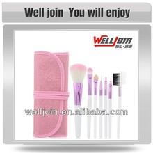 7pcs Professional Cosmetic Face Brush Set With Pink Bag