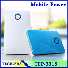 2014 best power bank made in china 10400mAh slim portable power pack white color free logo