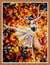 abstract ballerina diy canvas oil painting for home decor GX7871