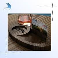 Unique design Handmade wooden desktop calendar/cup holder