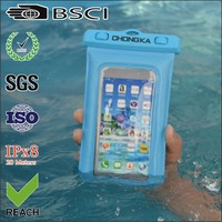 pvc mobile waterproof bag/pvc water proof mobile pouch/pvc waterproof case for samsung