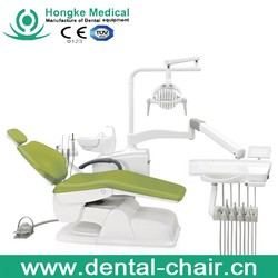 Chinese manufacture High quality ISO and CE approved leather cushion dental chair with LED sensor light