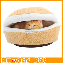 Wholesales Super Soft Hamburger Cat Sleeping Bed for Dogs Pet Cat Cage