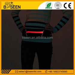 Top selling popular running belt led waist bag sports belt pocket