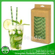 Wholesale Eco-Friendly disposable drink Striped Paper Straws