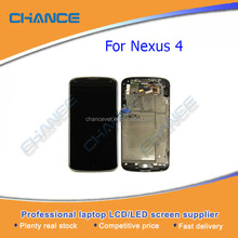 Original LCD Touch Screen Digitizer Assembly For Google Nexus 4 LG E960 With Frame Black