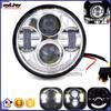 BJ-HL-015 Custom 5.75 Inch Chrome LED motorcycle headlight for harley davidson