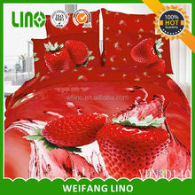 cotton 3d flower printed wholesale bed sheets with pillow case/royal bridal bed sheet luxury