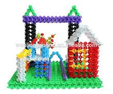 Diy del copo de nieve de construcción bloques de conexión de juguete