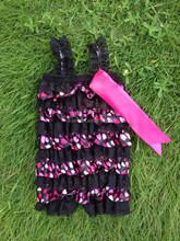 Wholesale petti lace romper valentine's day lace dress little girls lace romper