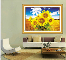 2015 Hot sale diy crystal diamond painting with modern sunflower for wall decoration