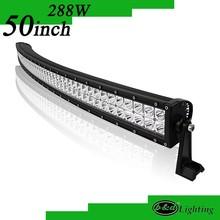 12v led light c ree 50inch 288w curvred off road led light bar for 4x4 accessory