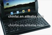 For iPad Mini Leather book folio Case cover stand with Detachable Bluetooth Keyboard