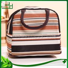 Stripe pattern polyester heavy duty shopping bags