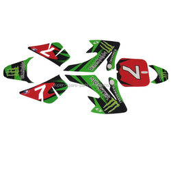 Fashionable fit for dirt bike and atv stickers motocross stickers
