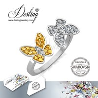 Destiny Jewellery Butterfly kisses ring for girls ring Crystals from Swarovski made with Nickel free & 18K gold plating