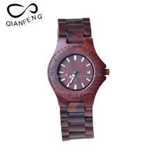 Nice looking wooden watches manufacture latest wooden grain dial PU leather wrist watch comfortable wearing wood bamboo watches