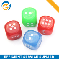 Dice Shaped TPR Bouncy Ball,Flashing Ball