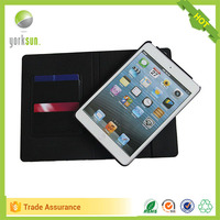 Luxury Business Flip Wallet Card Stand Case For iPad Mini 4 Leather Smart Cover