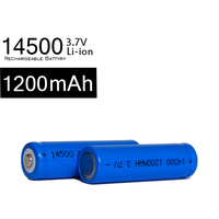 Mini Aluminum Led Flashlight buy 3.7V AA Size torch and Rechargeable 14500 3.7v 1200mah rechargeable aa lithium ion batteries