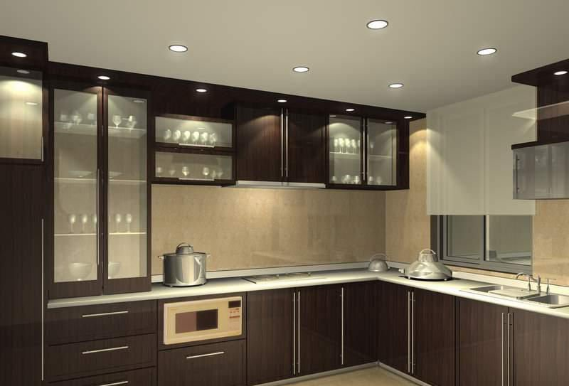 cuisine beige laque indian modular kitchen design ideas - Cuisine Beige Laquee