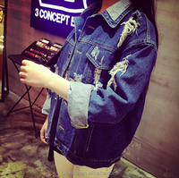 2015 In-Stock High Quality jackets women autumn wholesale denim jackets
