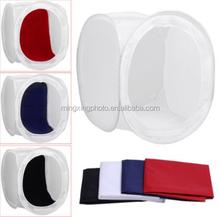 Cube Diffusion Soft Box with 4 Colors Backdrop (Red Dark Blue Black White) Photo Studio ilght Tent kit