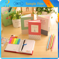 alibaba express cheap price hardcover memo pad notepad sticky notes stationery diary notebook for office school supplies & pen/