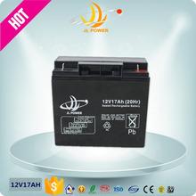 JL ISO9001 CE FCC MSDE 12v 17ah ups batteries rechargeable batteries 17ah battery recharge pack 12 volt