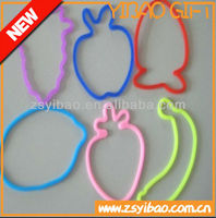 Silicone hair band any shape and high elasticity