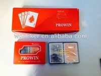 four corner poker size plastic playing cards