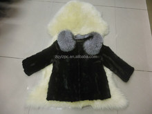 2015 New MInk Coat With Silver Collar.HOT SALE NOW!