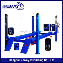 4 post hydraulic car lift 3500kg 5000kg